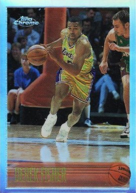 1996 Topps Chrome Refractor Derek Fisher #206 Basketball Card