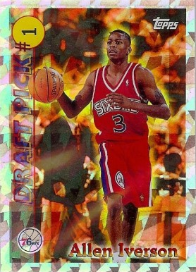 1996 Topps Draft Redemption Allen Iverson #1 Basketball Card