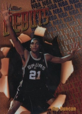 1997 Finest Tim Duncan #101 Basketball Card