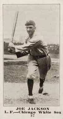 1916 Sporting News Joe Jackson #87 Baseball Card