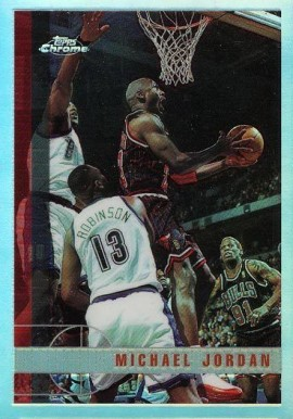 1997 Topps Chrome Refractor Michael Jordan #123 Basketball Card