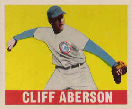 1948 Leaf Cliff Aberson #136(Full) Baseball Card