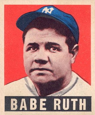 1948 Leaf Babe Ruth #3 Baseball Card