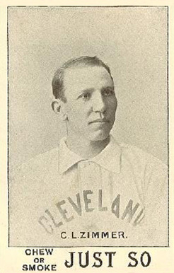 1893 Just So Tobacco Chief Zimmer #14 Baseball Card