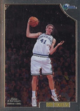 1998 Topps Chrome Dirk Nowitzki #154 Basketball Card
