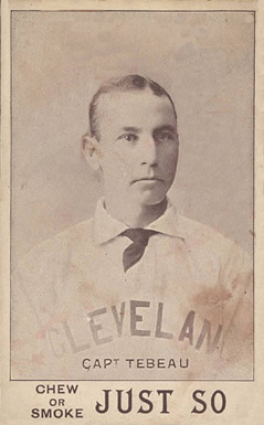 1893 Just So Tobacco Patsy Tebeau #10 Baseball Card