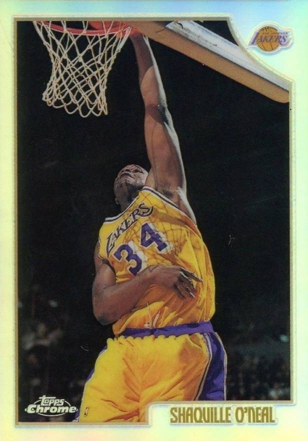 1998 Topps Chrome Refractor Shaquille O'Neal #175 Basketball Card