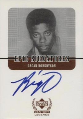 1999 Upper Deck Century Legends Epic Signatures Oscar Robertson #OR Basketball Card