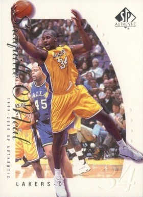 1999 SP Authentic Shaquille O'Neal #39 Basketball Card