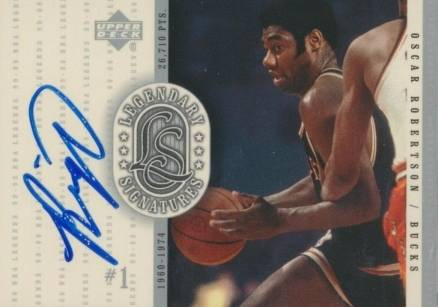 1999 Upper Deck Legends Legendary Signatures Oscar Robertson #Or Basketball Card