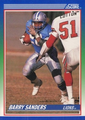 Barry Sanders Hall Of Fame Football Cards