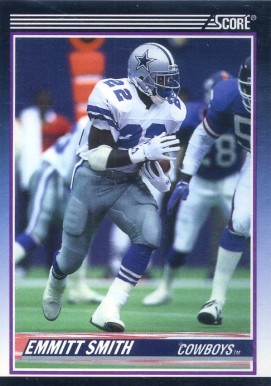 1990 Score Supplemental Emmitt Smith #101T Football Card