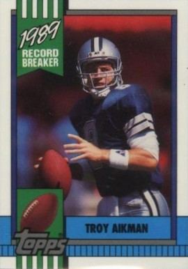 1990 Topps Tiffany Troy Aikman #3 Football Card