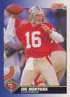 1991 Score Joe Montana #1 Football Card
