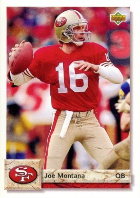1992 Upper Deck Joe Montana #560 Football Card