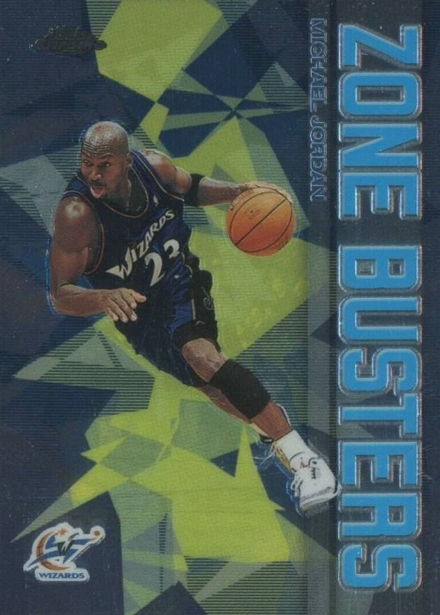 2002 Topps Chrome Zone Busters Michael Jordan #ZB-13 Basketball Card