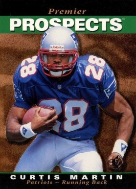 1995 SP Curtis Martin #18 Football Card