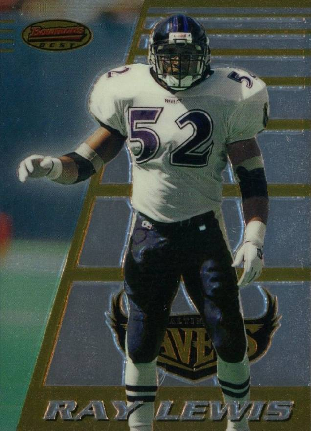 1996 Bowman's Best Ray Lewis #164 Football Card