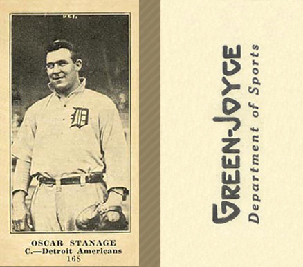 1916 Green-Joyce Oscar Stanage #168B (Portrait) Baseball Card