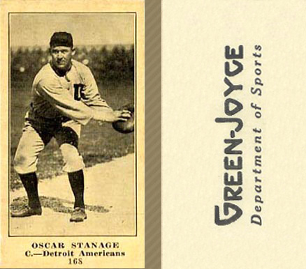 1916 Green-Joyce Oscar Stanage #168A (Catching) Baseball Card