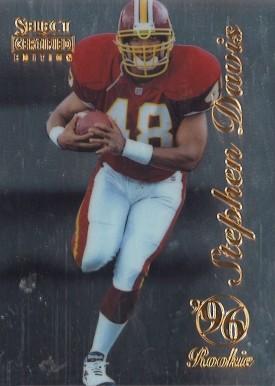 1996 Select Certified Edition Premium Stock 100 Eddie George Houston Oilers Card