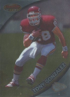 1997 Bowman's Best Tony Gonzalez #101 Football Card