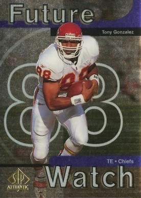 1997 SP Authentic Tony Gonzalez #11 Football Card