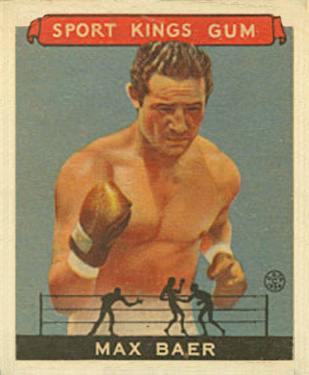 1933 Goudey Sport Kings Max Baer #44 Boxing & Other Card
