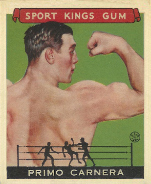1933 Goudey Sport Kings Primo Carnera #43 Boxing & Other Card