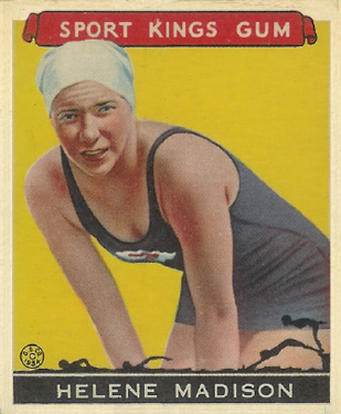 1933 Goudey Sport Kings Helene Madison #37 Boxing & Other Card