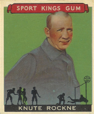 1933 Goudey Sport Kings Knute Rockne #35 Football Card