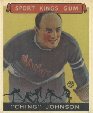 1933 Goudey Sport Kings Ching Johnson #30 Hockey Card