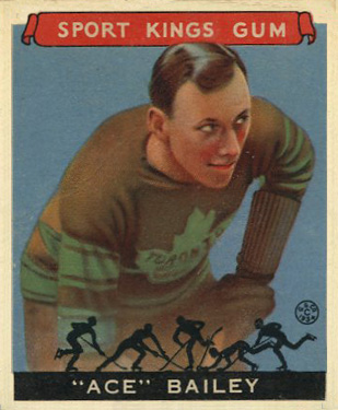 1933 Goudey Sport Kings Ace Bailey #29 Hockey Card