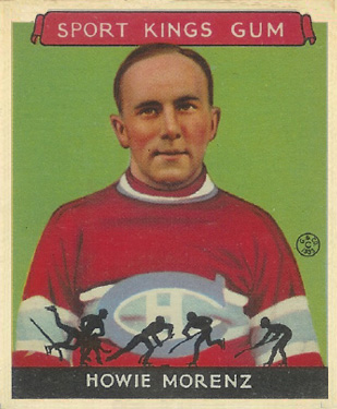 1933 Goudey Sport Kings Howie Morenz #24 Hockey Card