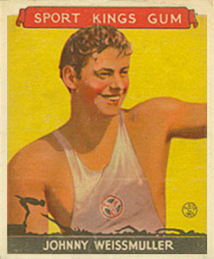 1933 Goudey Sport Kings Johnny Weissmuller #21 Boxing & Other Card
