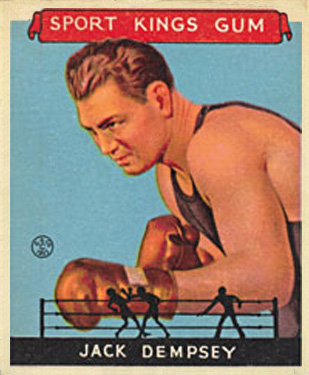 1933 Goudey Sport Kings Jack Dempsey #17 Boxing & Other Card