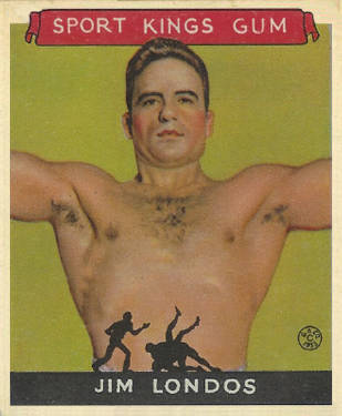 1933 Goudey Sport Kings Jim Londos #14 Boxing & Other Card
