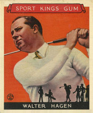 1933 Goudey Sport Kings Walter Hagen #8 Boxing & Other Card