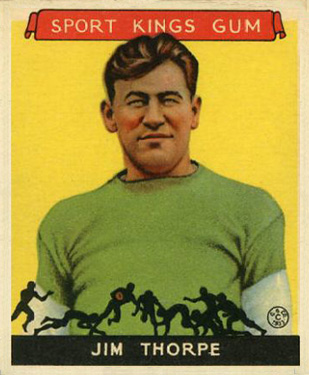 1933 Goudey Sport Kings Jim Thorpe #6 Football Card