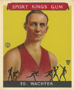 1933 Goudey Sport Kings Ed Wachter #5 Basketball Card