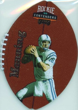 1998 Playoff Contenders Leather Peyton Manning #37 Football Card