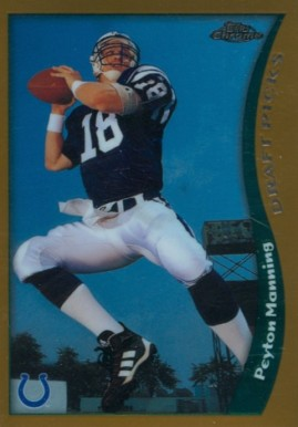 1998 Topps Chrome Peyton Manning #165 Football Card