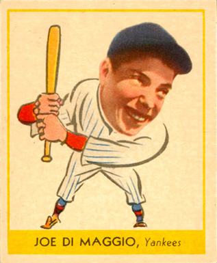 1938 Goudey  Joe DiMaggio #250 Baseball Card