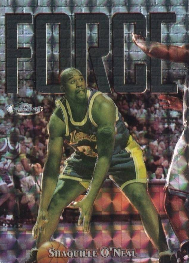 1997 Finest Embossed Refractor Shaquille O'Neal #148 Basketball Card