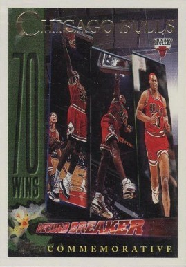 Verzamelkaarten: sport 1996-97 Topps Foil NBA 50 #72 Chicago Bulls Team Basketball Card