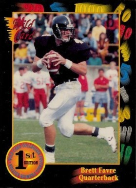 1991 Wild Card College Draft Picks Brett Favre #119-1st Football Card