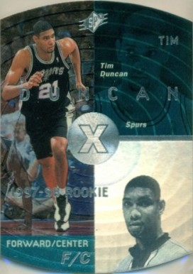 1997 SPx Tim  Duncan #37 Basketball Card