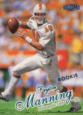 1998 Ultra Peyton  Manning #201 Football Card