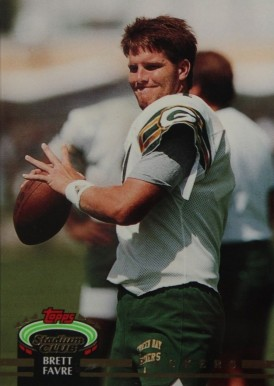 1992 Stadium Club  Brett  Favre #683 Football Card