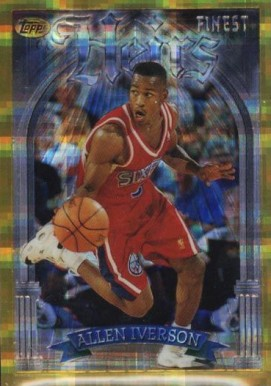 1996 Finest Refractor Allen  Iverson #280 Basketball Card